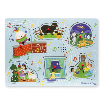 Melissa & Doug Sound Puzzle - Sing a long nursery rhymes 2 (blue)